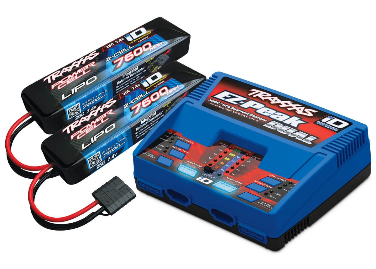 Traxxas Dual Charger/2S LiPo Battery Combo