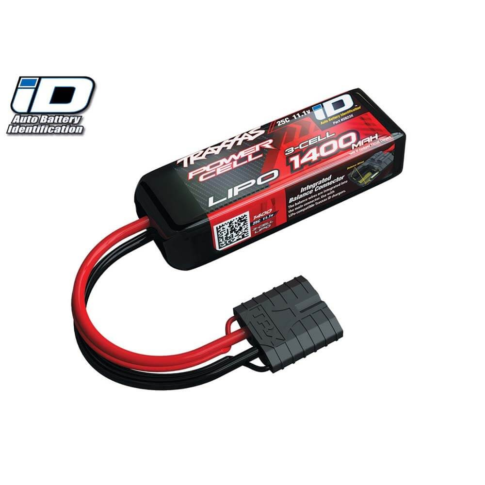Traxxas 1400mAh 11.1v 3S 25C LiPo Battery with iD Plug