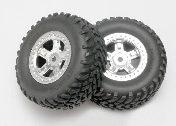 Mounted SCT Wheels and Tires 1/16 Slash (2)