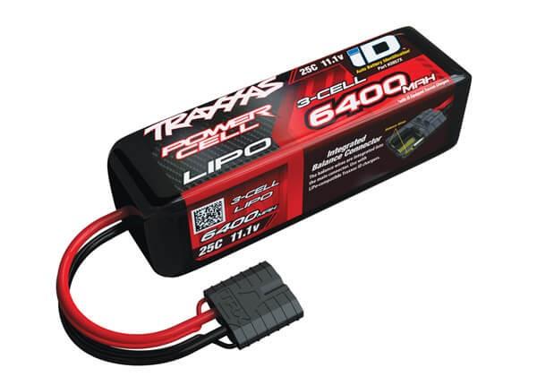 Traxxas 6400mAh 11.1v 3S 25C LiPo Battery iD Plug