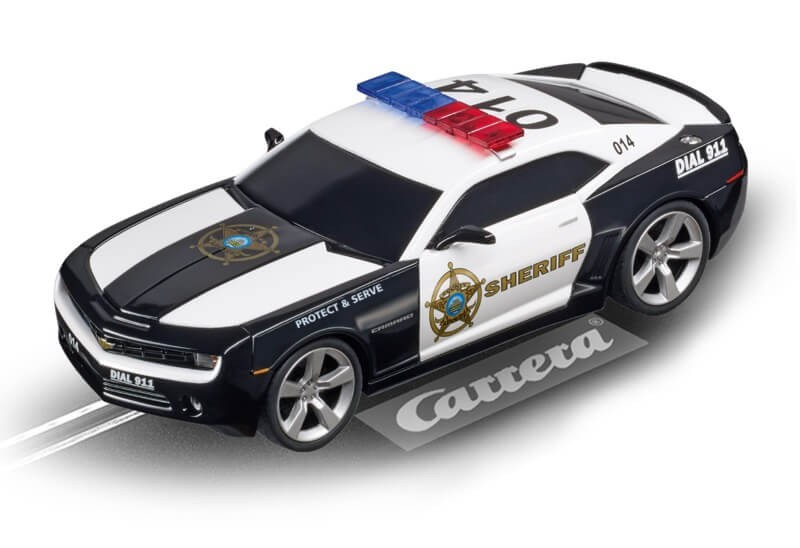 Digital 132 Chevy Camaro Sheriff w/Flashing Lights Slot Car