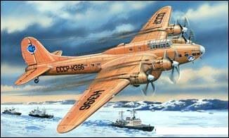 1:72 Petlyakov Pe8 (Polar Aviation) Bomber