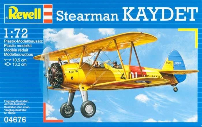 Revell Germany 1/72 Stearman PT-13D Kaydet Plastic Model Kit