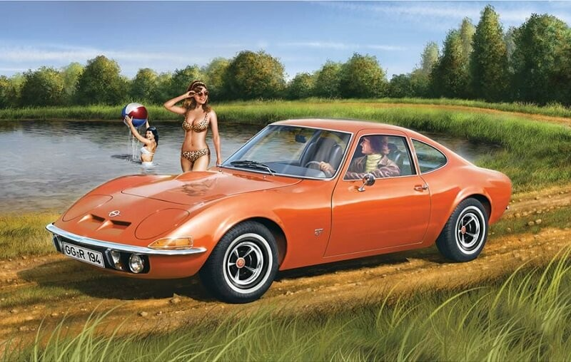 Revell Germany 1/32 Opel GT Plastic Model Kit