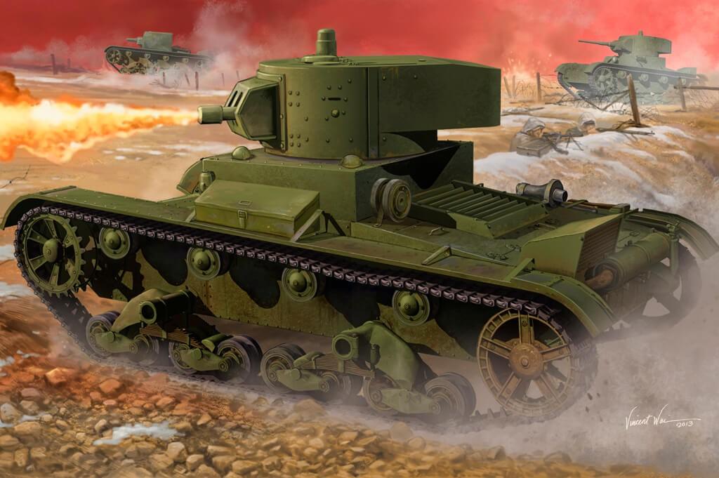 1:35 Soviet OT-130 Flame Thrower Tank Model Kit