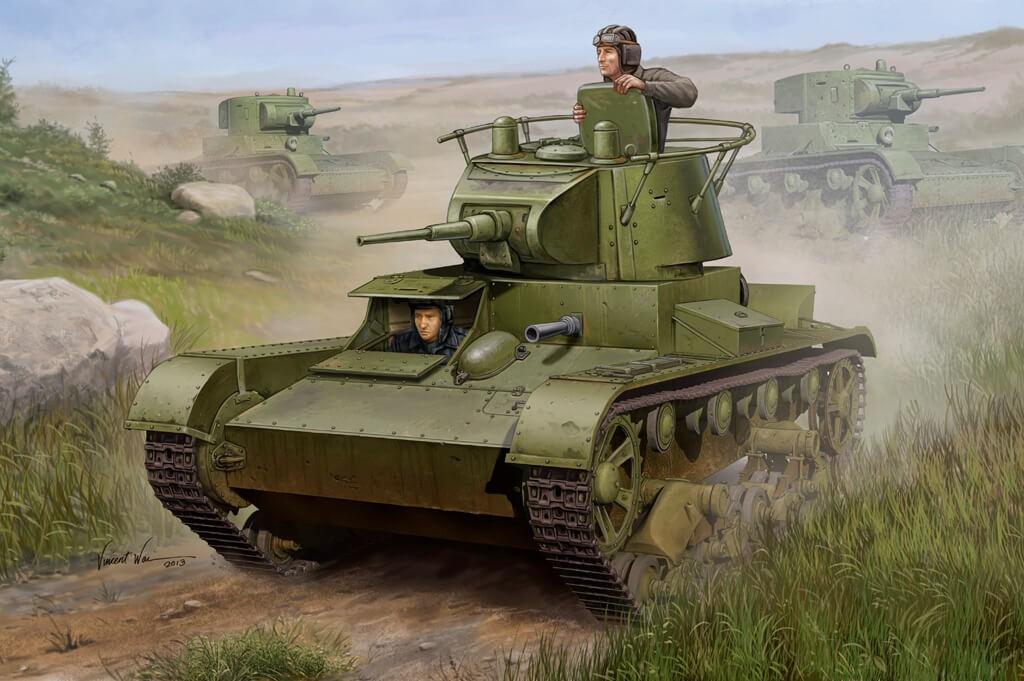 1:35 Soviet T-26 Light Infantry Tank Plastic Model Kit