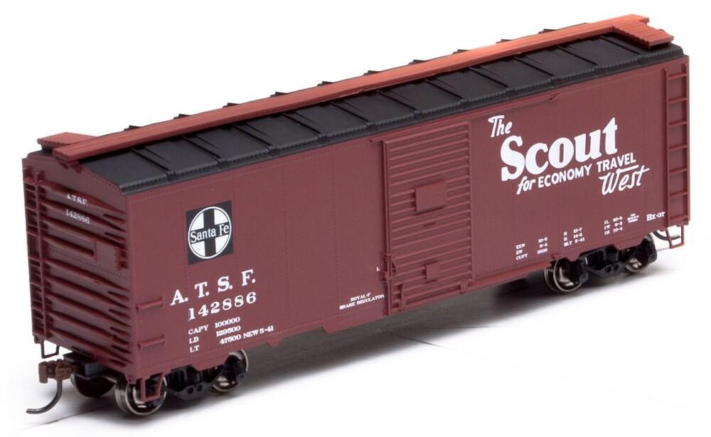 HO RTR 40' YSD Box Car Santa Fe Scout #143798
