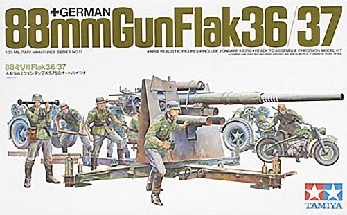 1/35 German 88mm Gun Flak 36/37 Plastic Model Kit