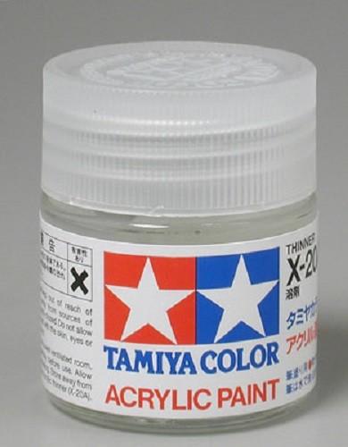 Tamiya X-20A 3/4 oz Acrylic Thinner