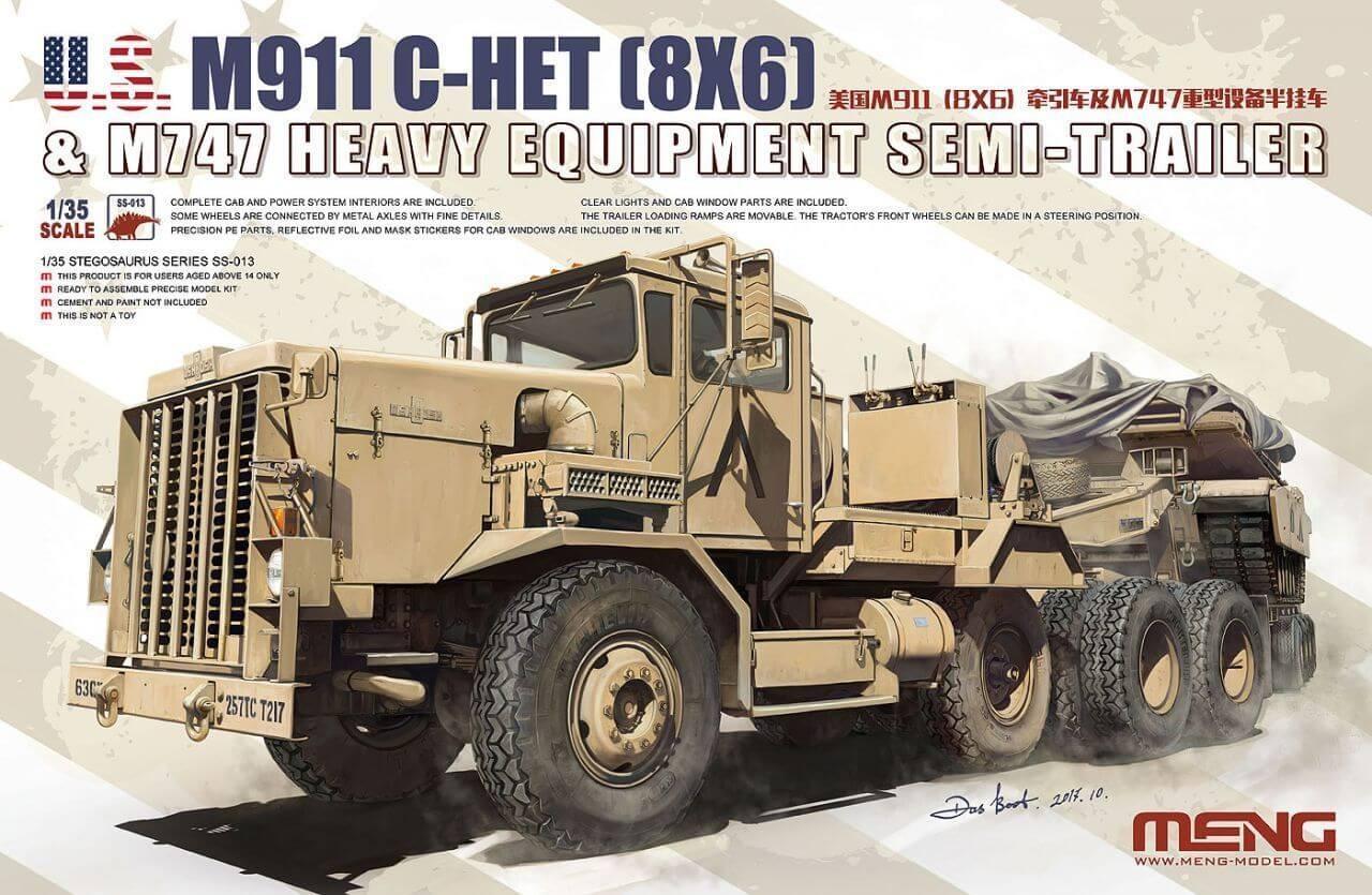 Meng Model 1/35 M911 C-HET & M747 Plastic Model Kit