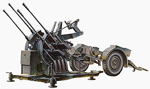 1:35 Flakvierling 38 2cm Flak Plastic Model Kit