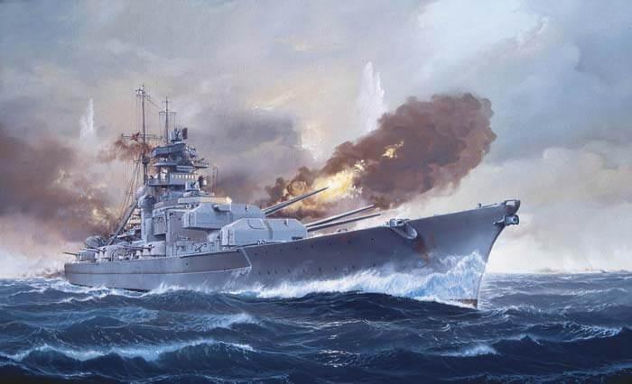 Revell Germany 1:350 Battleship Bismarck Plastic Model Kit