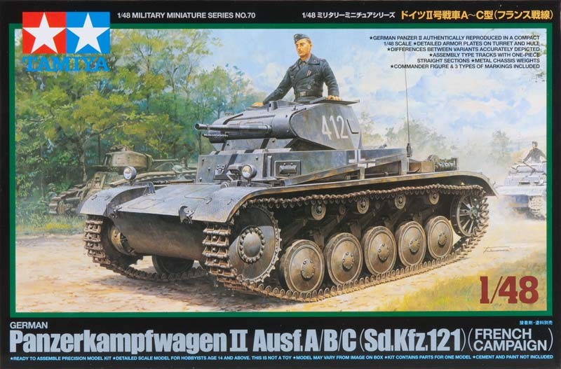 1 48 German Panzer Ii A B C French Campaign Plastic Model Kit