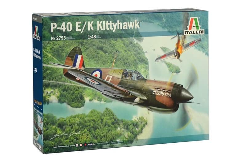 Italeri 1/48 P-40 E/K Kittyhawk Plastic Model Kit