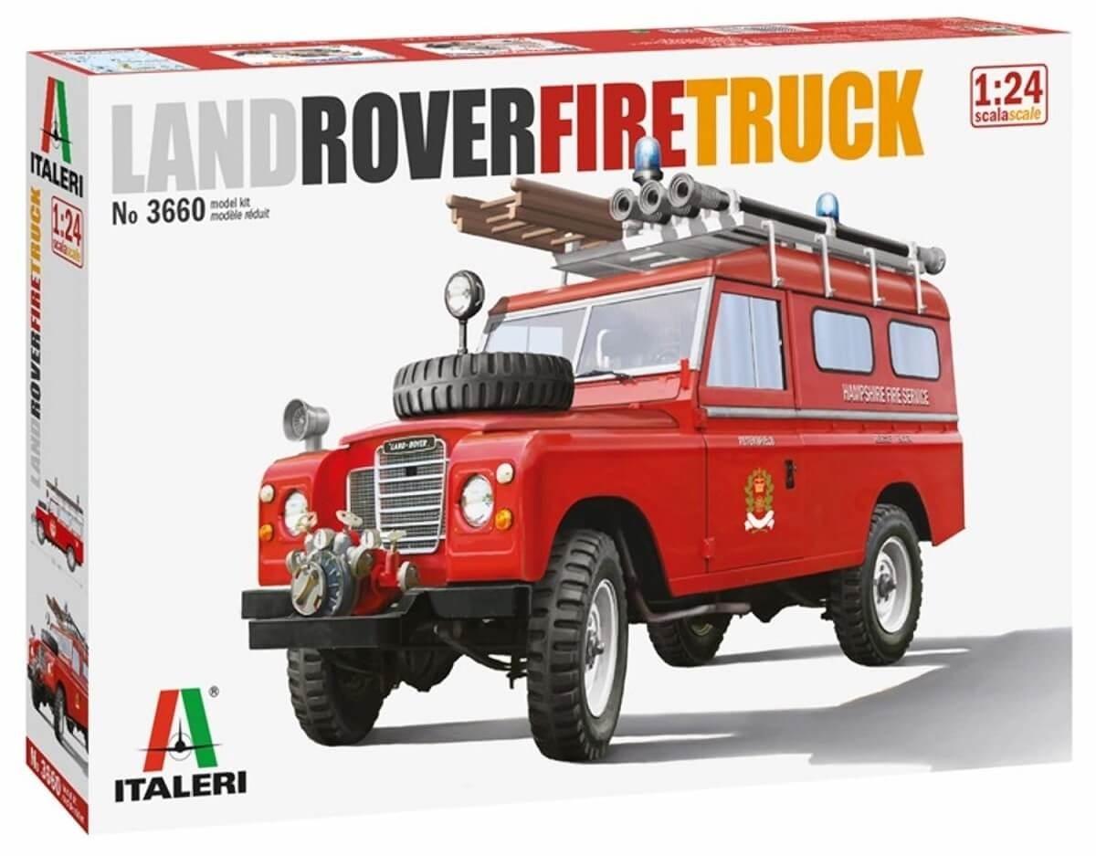Italeri 1:24 Land Rover Fire Truck Plastic Model Kit