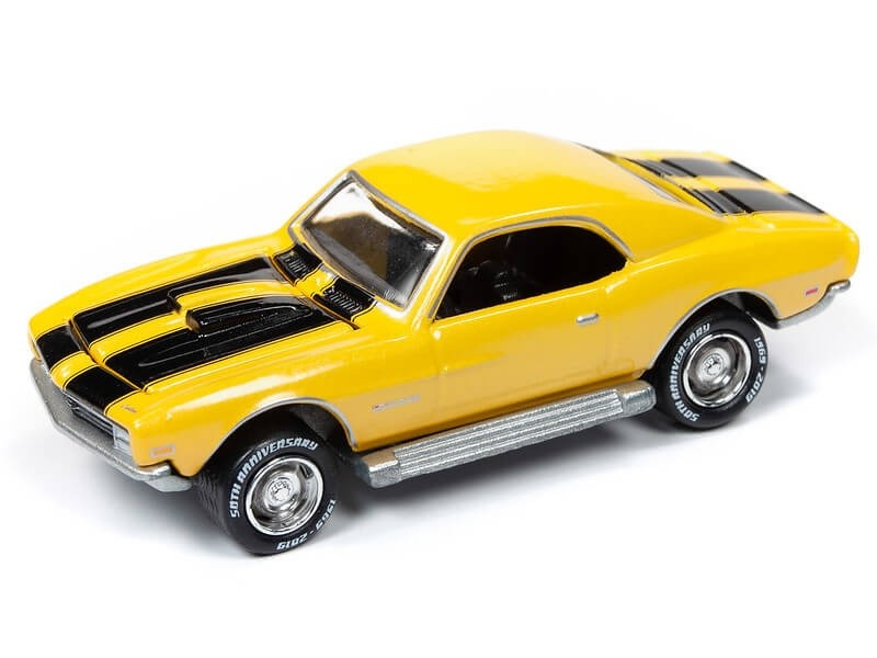 Johnny Lightning 1/64 Topper Custom Camaro Bright Yellow Die-Cast