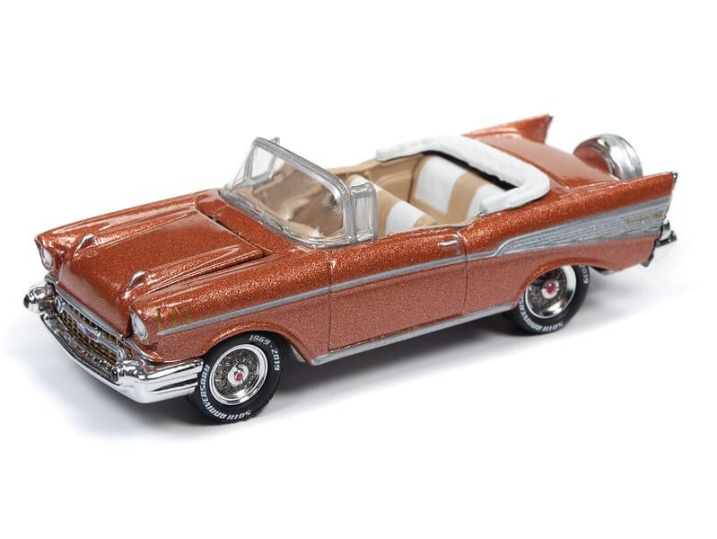 Johnny Lightning 1/64 1957 Chevy Bel Air Sierra Gold Die-Cast