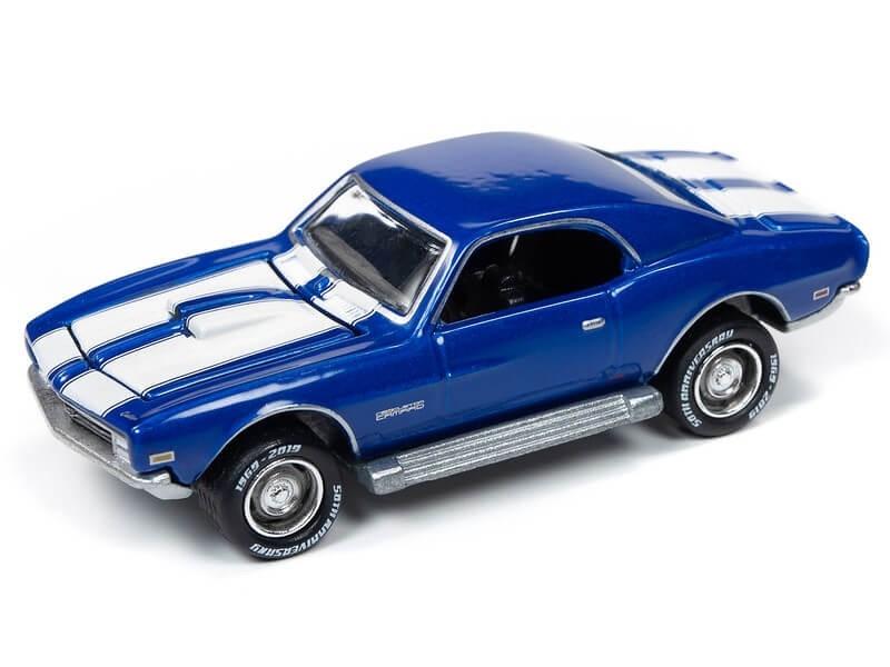 Johnny Lightning 1/64 Topper Custom Camaro Metallic Blue Die-Cast