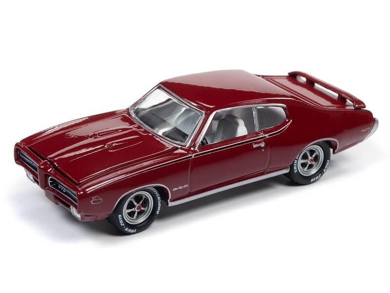 Johnny Lightning 1/64 1969 Pontiac GTO Matador Red Die-Cast