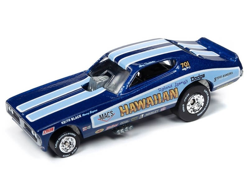 Johnny Lightning 1/64 Hawaiian 1970's Charger Funny Car 1972 Die-Cast
