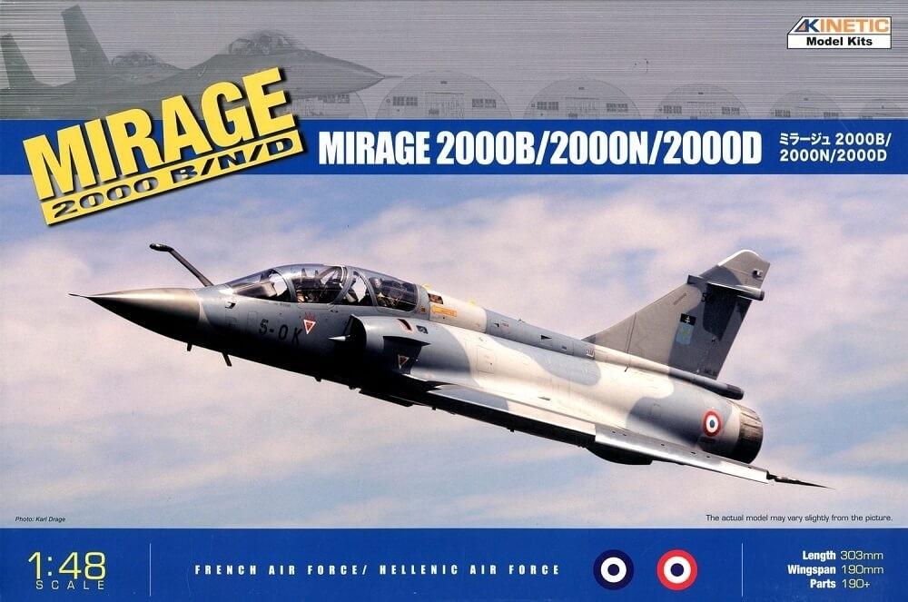Kinetic Models 1:48 Mirage 2000 B/D/N Plastic Model Kit