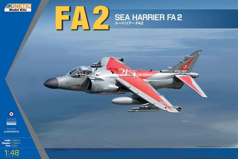 Kinetic Models 1:48 Sea Harrier EA2 Plastic Model Kit
