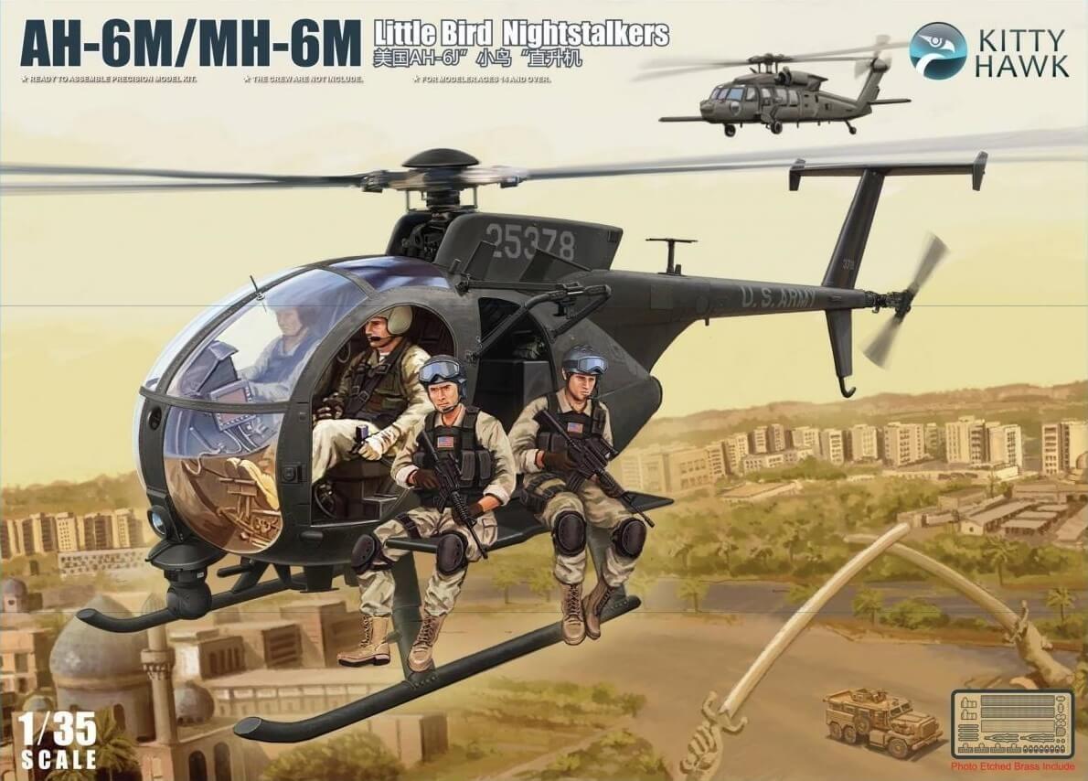 Kitty Hawk 1/35 AH-6M/MH-6M Little Bird Nightstalkers Plastic Model Kit