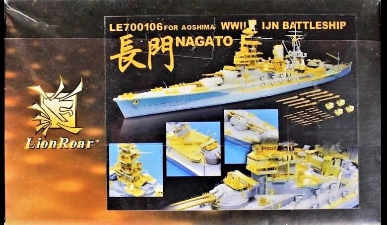 Lion Roar 1:700 WWII IJN Battleship Nagato Model Detail Set