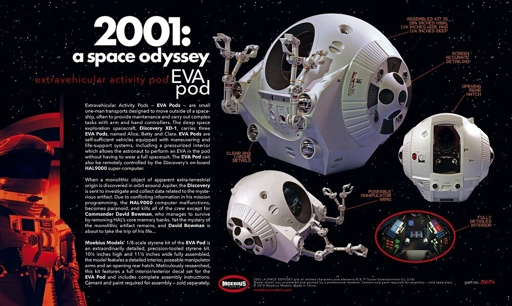 Moebius 1/8 2001: A Space Odyssey EVA Pod Plastic Model Kit