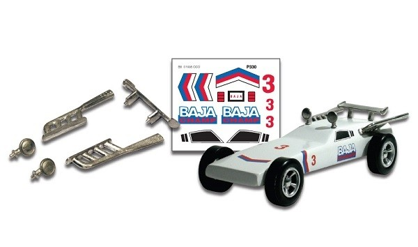 Pinecar Pinewood Derby Parts w/Decals Baja Champ
