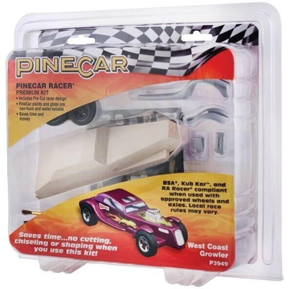 Pinecar Pinewood Derby Car Kit West Coast Growler
