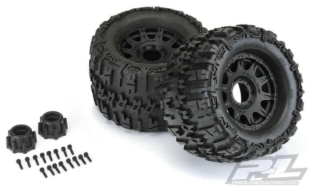 """Pro-Line Trencher X 3.8"""" Tires Mounted Raid 8x32 17mm Wheels"""