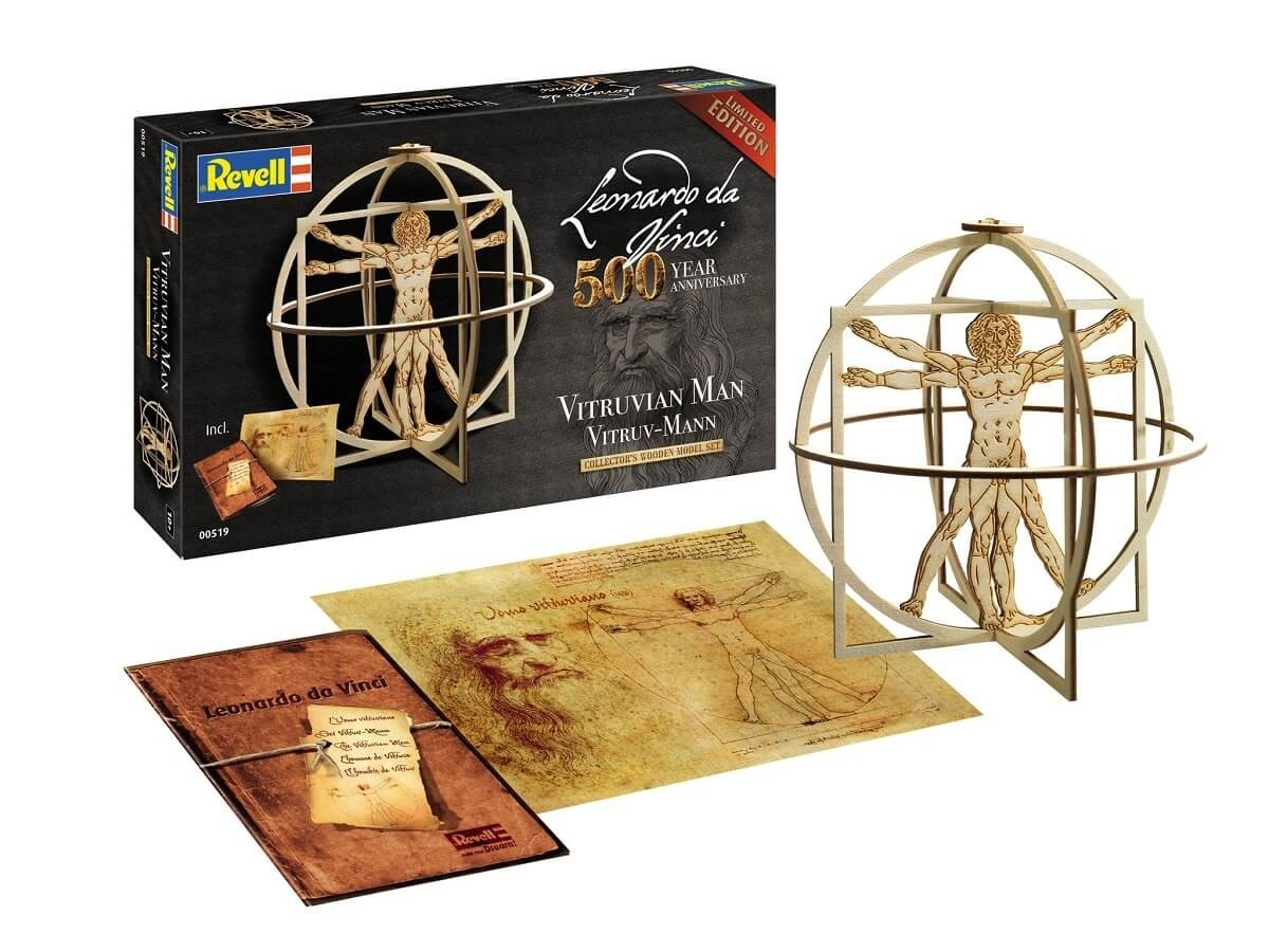 Revell Germany 1:16 Vitruvian Man 500 Year Anniversary Wooden Model Kit