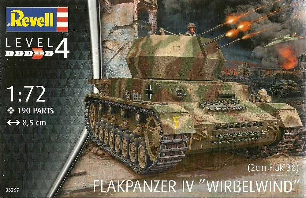 "Revell Germany 1:72 FLAKPANZER IV ""WIRBELWIND"" Plastic Model Kit"