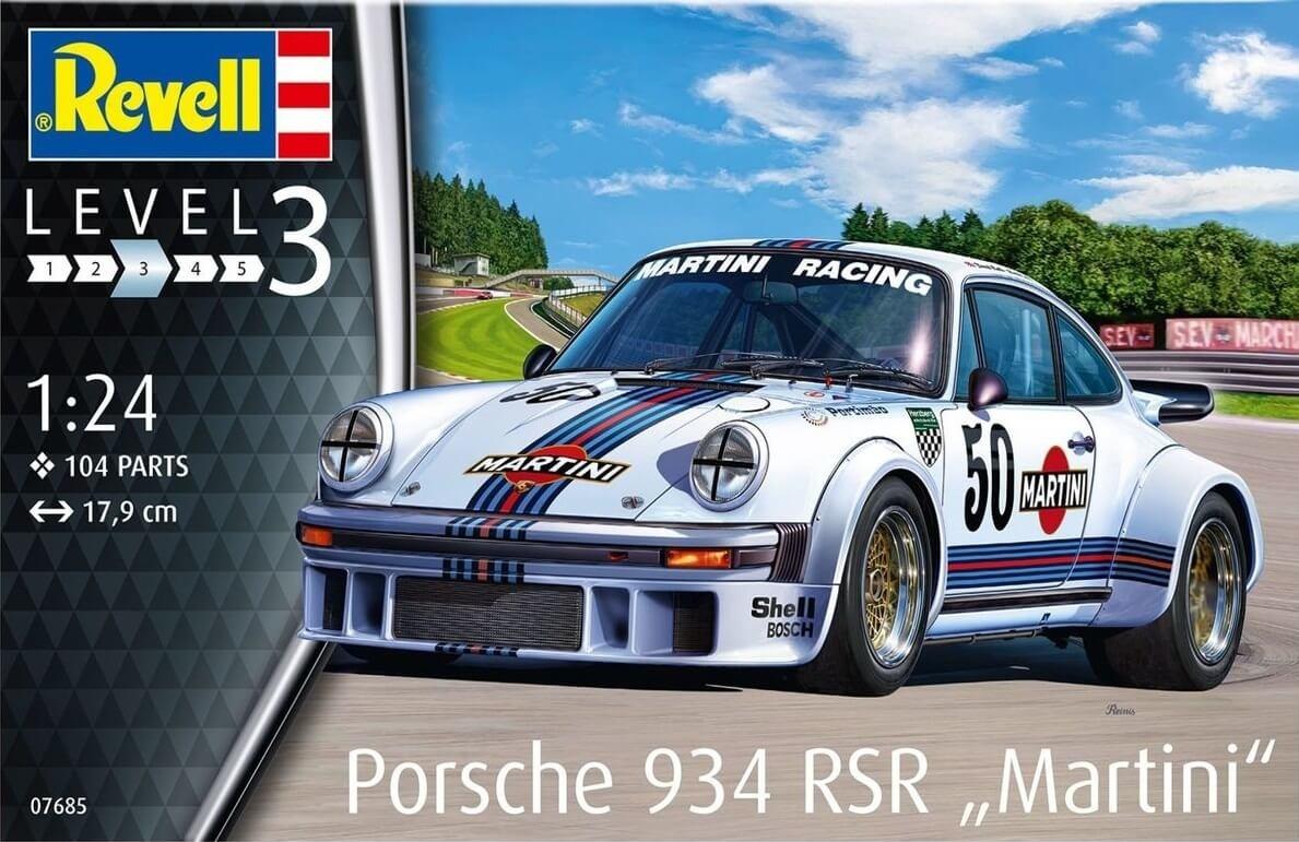 Revell Germany 1:24 Porsche 934 RSR Martini Plastic Model Kit
