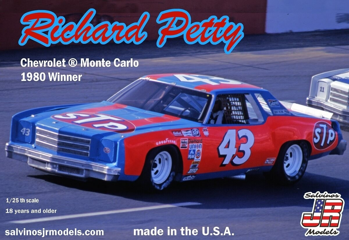 Salvino JR 1:25 Richard Petty Monte Carlo 1980 Plastic Model Kit