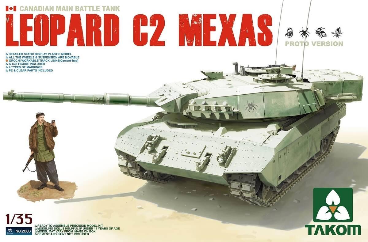Takom 1:35 Canadian Leopard C2 Mexas Plastic Model Kit