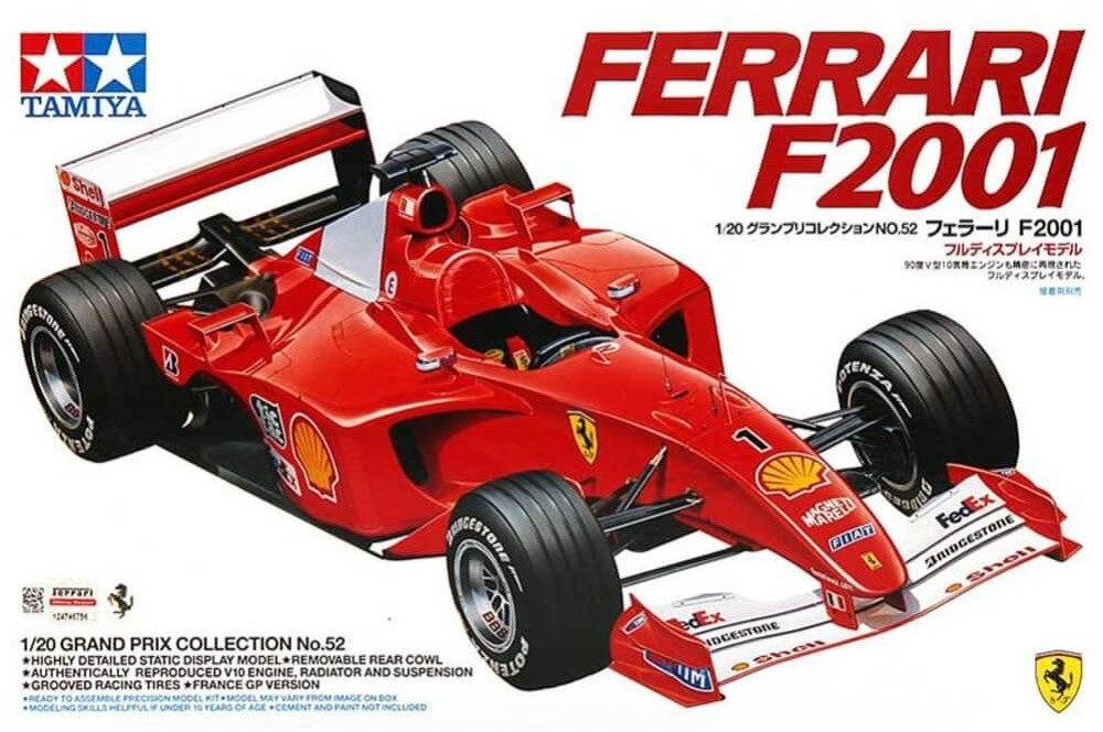Tamiya 1:20 Ferrari F2001 Plastic Model Kit