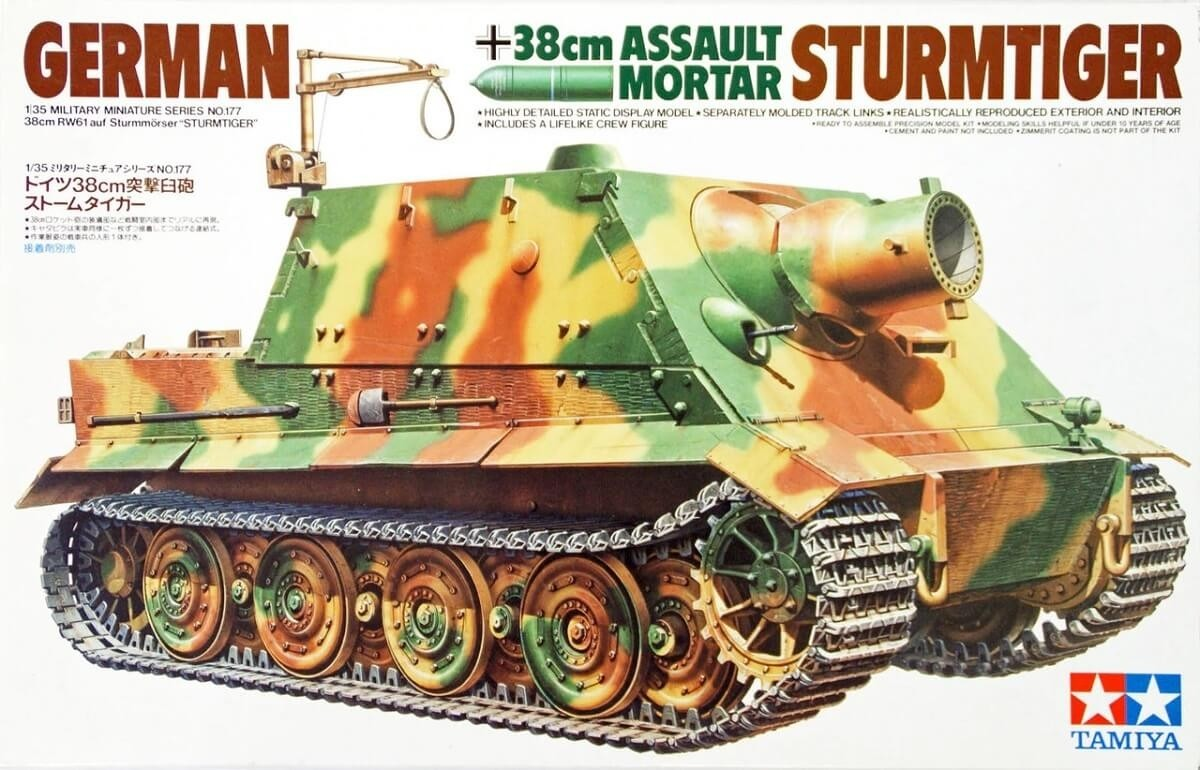 Tamiya 1/35 German Assault Mortar-Sturmtiger Plastic Model Kit