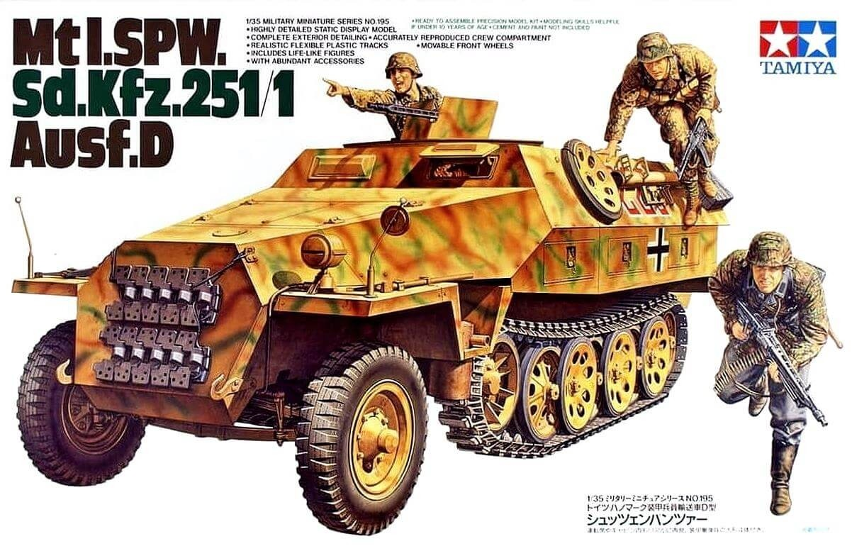 Tamiya 1:35 German Sd.Kfz. 251/1 Plastic Model Kit
