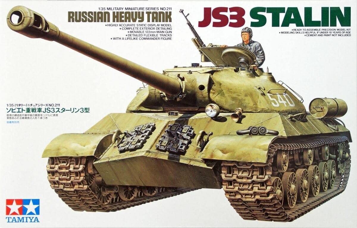 Tamiya 1:35 Russian JS3 Stalin Tank Plastic Model Kit