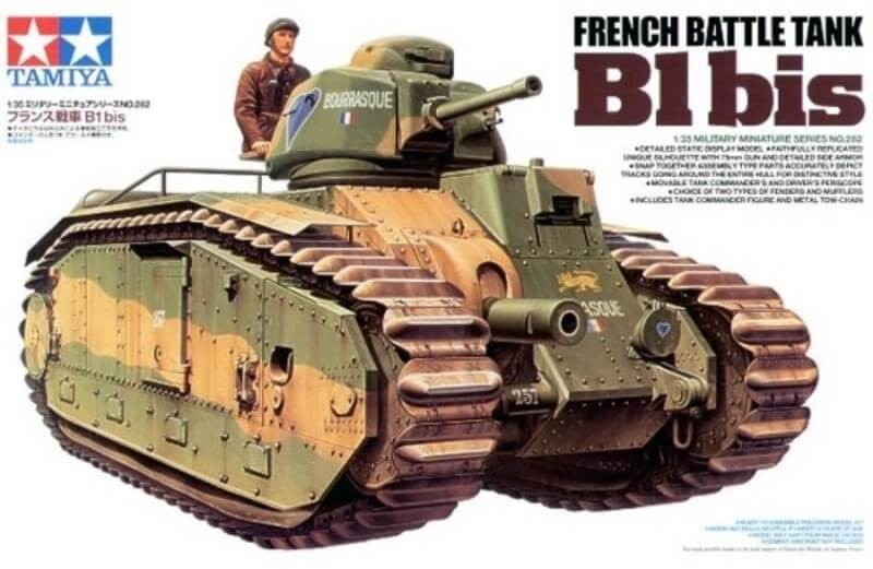 Tamiya 1:35 French Battle Tank B1 Bis Plastic Model Kit