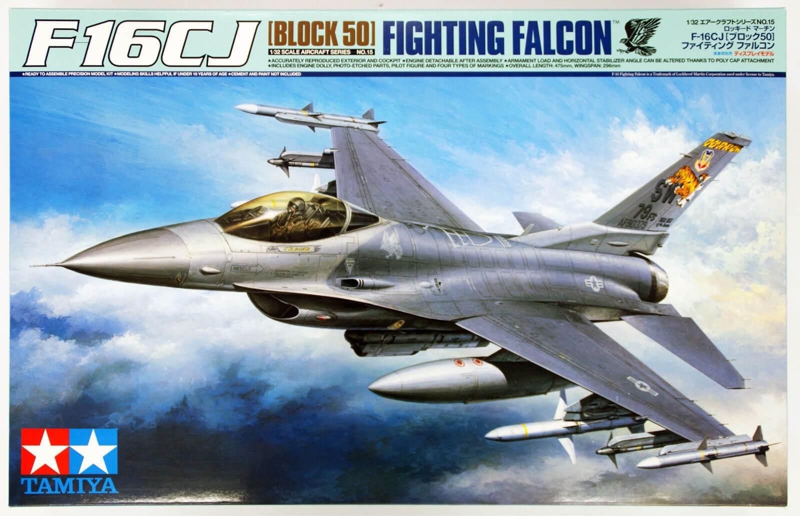 Tamiya 1/32 F-16CJ Fighting Falcon Plastic Model Kit 60315