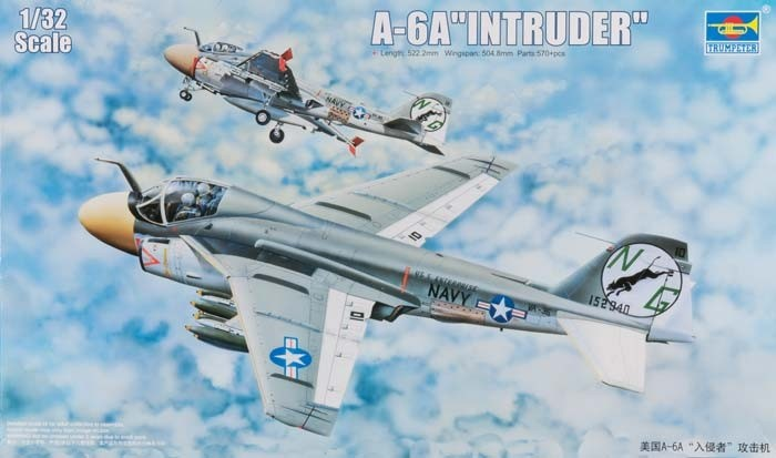 Trumpeter 1/32 A6A Intruder Aircraft Plastic Model Kit
