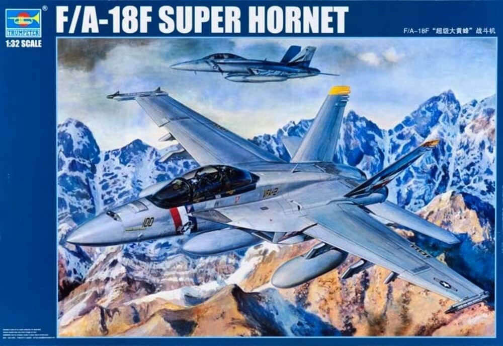 Trumpeter 1/32 F/A18F Super Hornet Fighter Plastic Model Kit