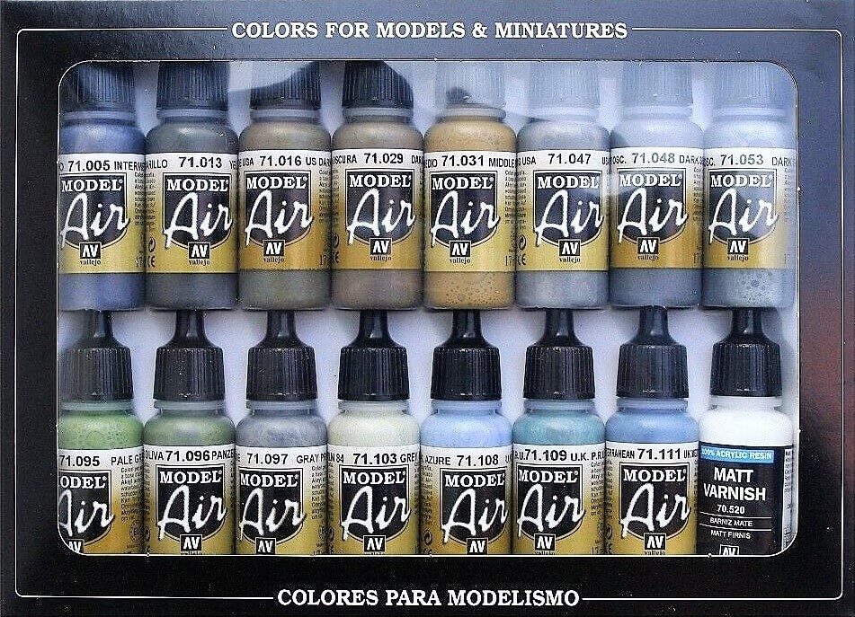 Vallejo WWII British Aircraft RAF/FAA Model Air Color Paint Set