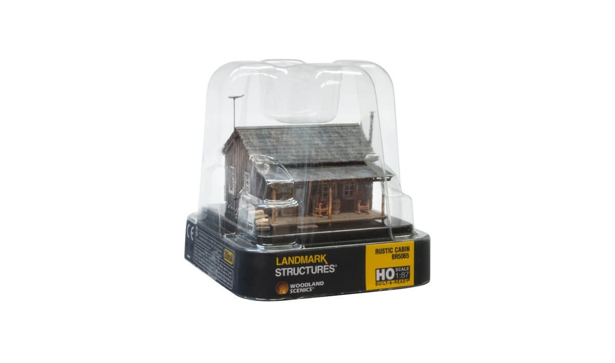 Woodland Scenics HO Scale Built-Up Rustic Cabin