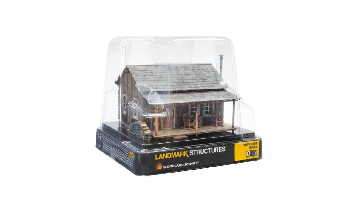 Woodland Scenics O Scale Built-Up Rustic Cabin