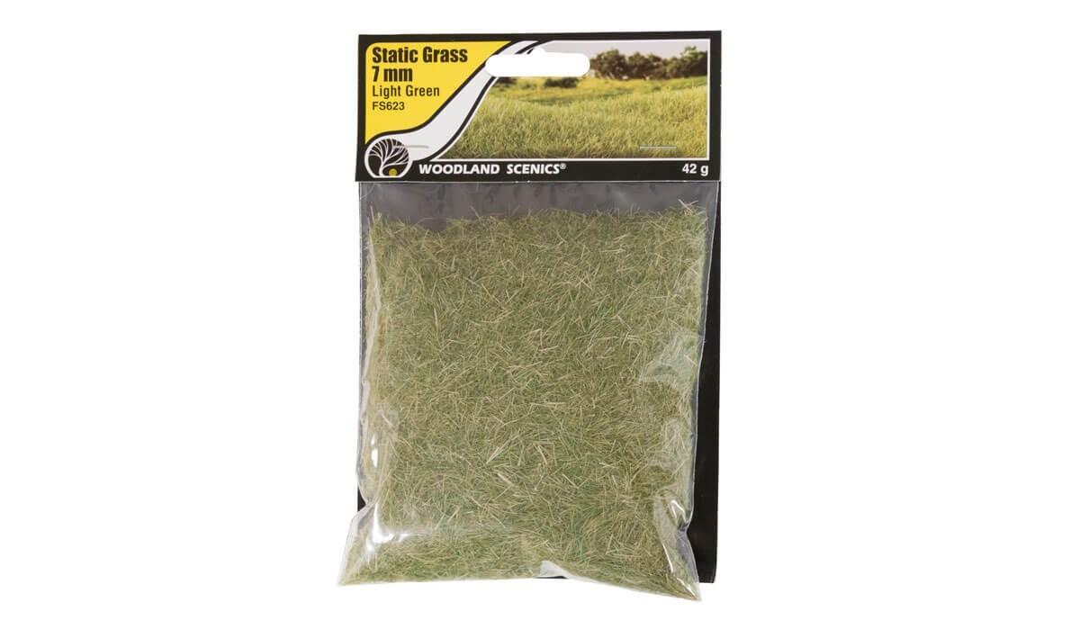 Woodland Scenics 7mm Static Grass Light Green