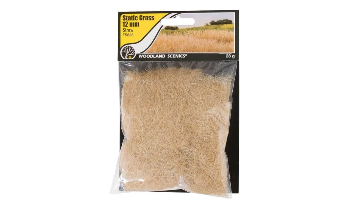 Woodland Scenics 12mm Static Grass Straw Green